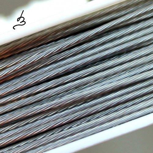 Ocelové lanko stříbrné 0,8 mm
