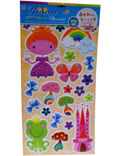 Samolepící plastická dekorace Princezna