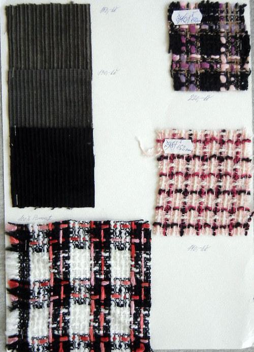 Výprodej různých tkanin pro kabáty