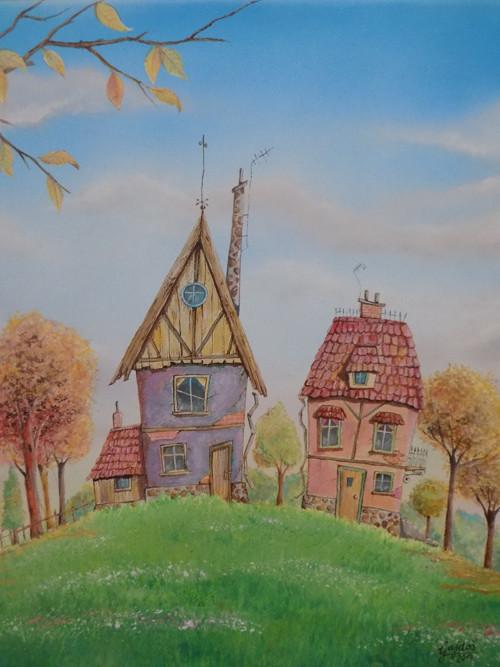 Obraz - Rozprávková dedina