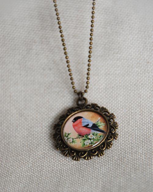 Ptáček (hýl) - náhrdelník