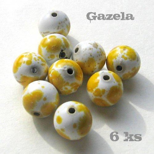Kulička dalmatin žlutá - 6 ks
