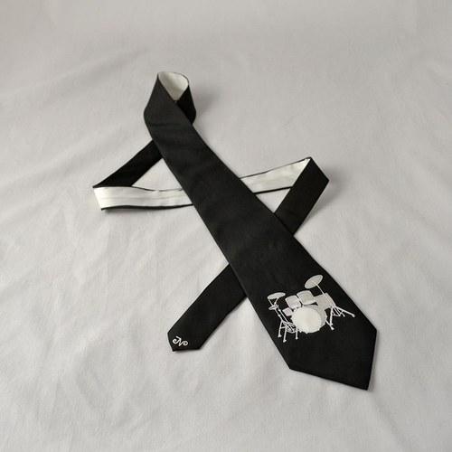 Bubenická kravata černo-bílá