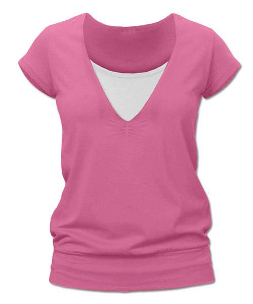 Kojicí tričko světlejší růžová