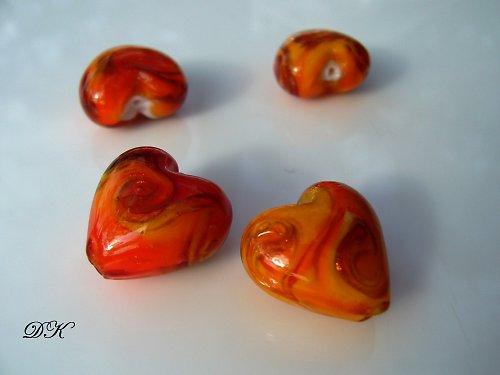 talianske korálky - srdiečko