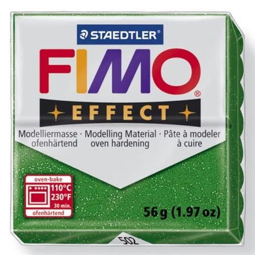 FIMO hmota Effect 56 g - třpytivá zelená č. 502