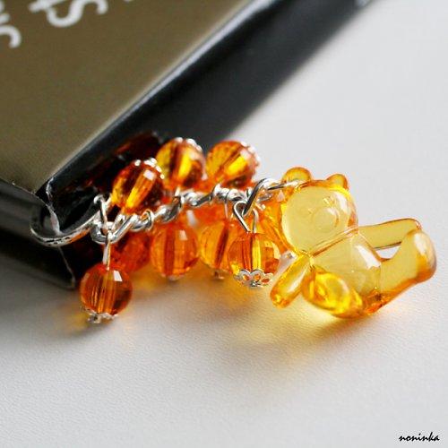Záložka do knihy medvídek oranžový - VÝPRODEJ