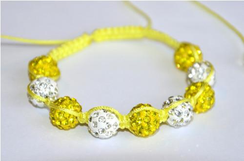 Náramek žlutobílý