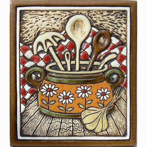 Keramický obrázek - Vařečky K-122-O