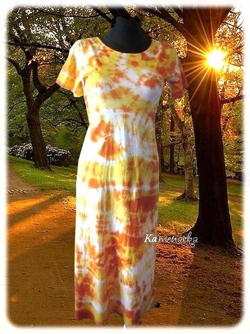 Dámské sluníčkové šaty-batika do 7XL