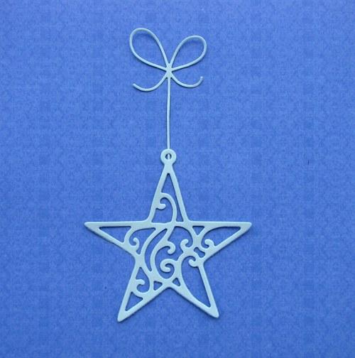 Hvězda filigránová s mašličkou (velká)
