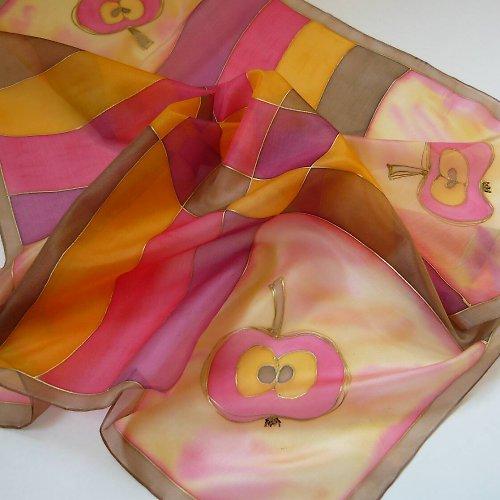 Hedvábný šátek - Chuť podzimu