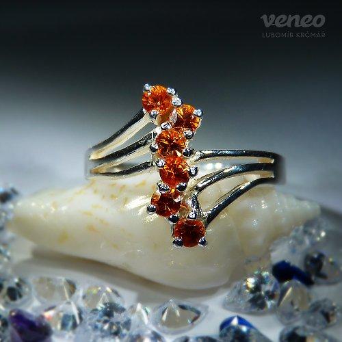 Verona - prsten s padparači