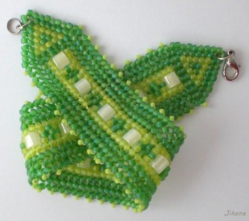 Zelenožlutý náramek