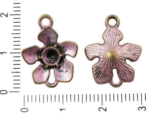14pcs Antické Bronzové Tón Růžové Patinu Wash Hibi