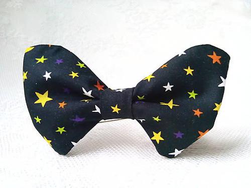 Night sky bow tie