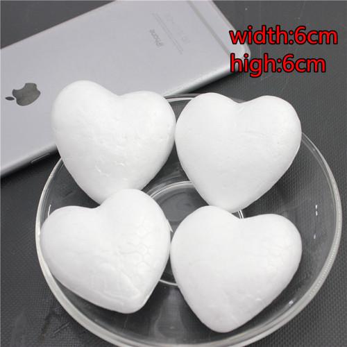 Polystyrenová srdce 6 cm