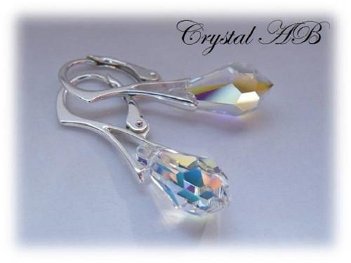 ღSwarovski Elem. v 925 slza 15mm Crystal AB