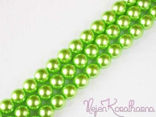 Voskové perle světle zelená 8mm