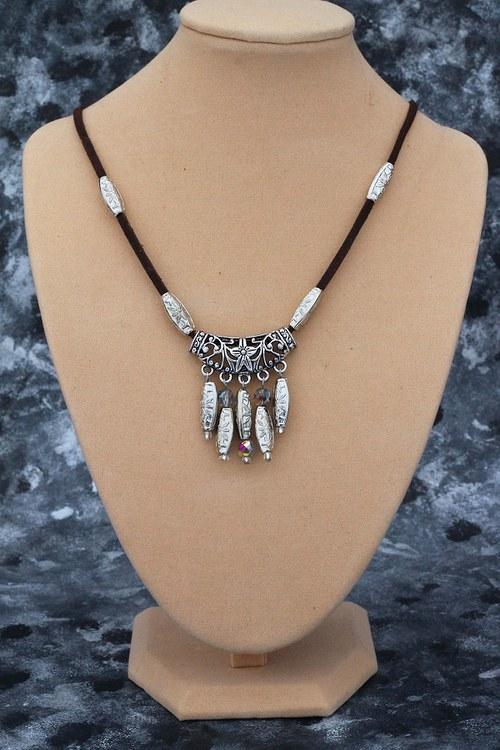 Ornamental Flower in silver - náhrdelník *VÝPRODEJ