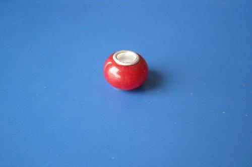Korálek - jádro stříbro 925 - vínověčervená