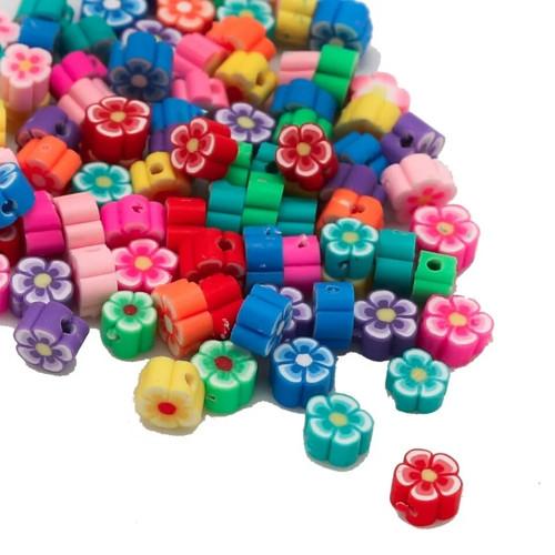 Polymerové kytičky velikost 6 mm (25 ks v balení)