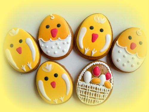 Velikonoční vajíčka - kuřátka
