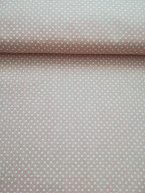 Vanilkové drobné puntíky na růžové