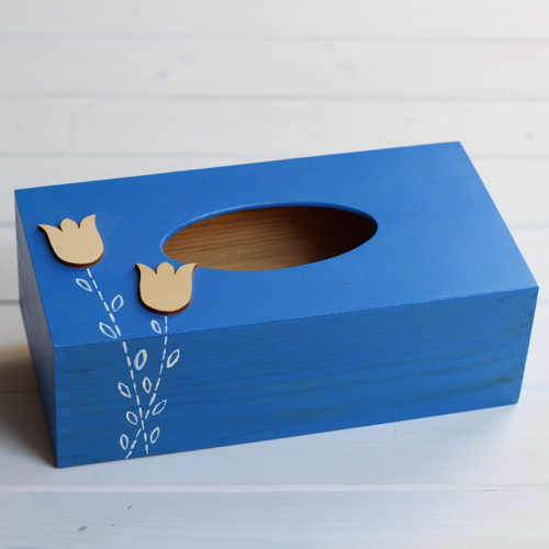 Ubrouskovník - Modrý, s tulipány...