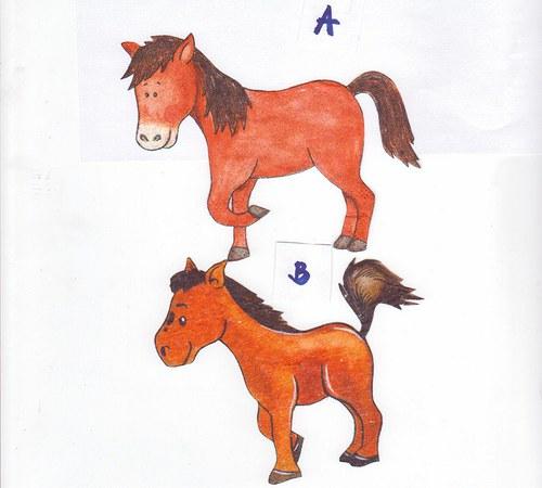 Vystřížený ubrousek - koník (5 ks)
