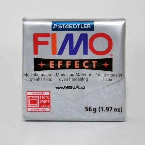 FIMO Effect / Glitter stříbrná (812)