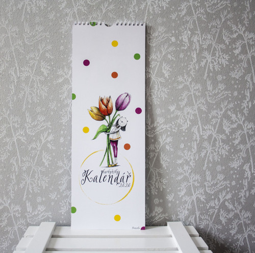 KALENDÁŘ - závěsný-kuchyňský - 42x15 - Hanunka