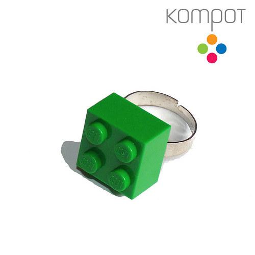 LEGO PRSTEN :: zelený