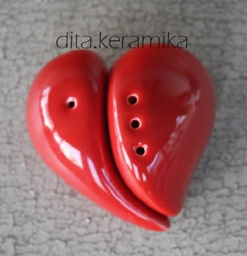 Srdce - solnička a pepřenka
