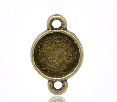 konektor (ramínko)/ ant.bronz/ 16x10mm/ 10ks