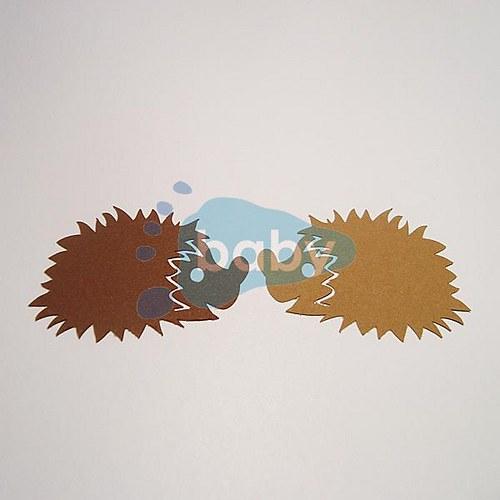 Výsek ježek 6 x 4 cm