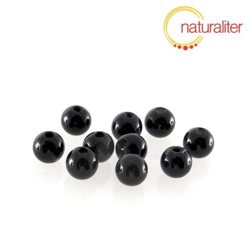 Voskované perly, černé, 8mm, 50ks