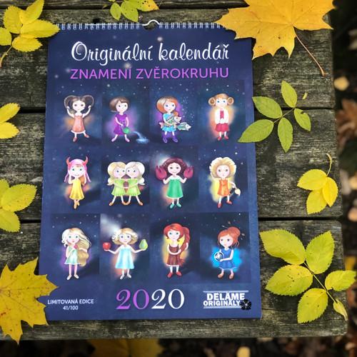 Originální kalendář A3 se znameními zvěrokruhu