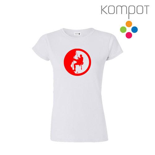 Dámské tričko HOROLEZEC :: bílé, vel. S-XL