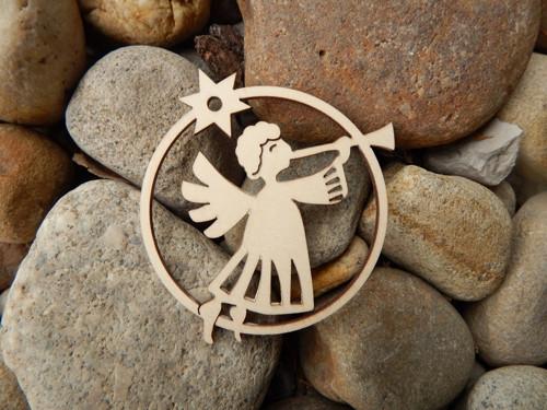 Závěs - anděl s trumpetou