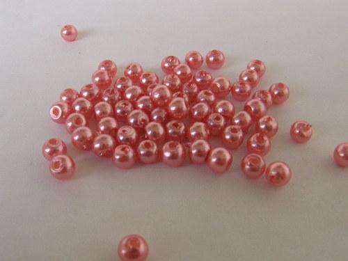 Vosková perla - světle lososová 3 mm / 30 ks