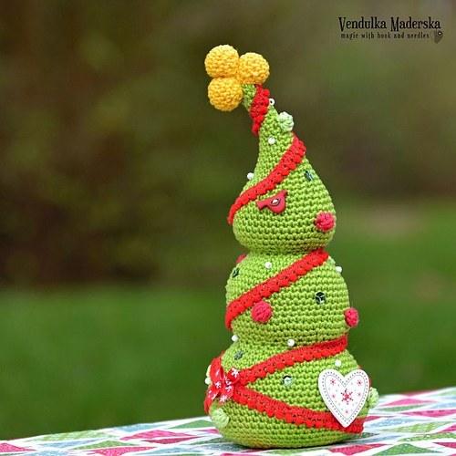 Vánoční stromeček - návod na háčkování