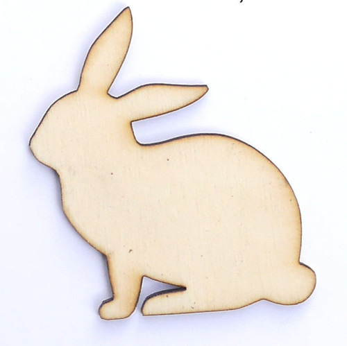 Zajíc ze dřeva (obrys) - šíře 5 cm