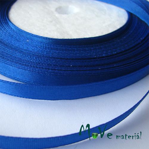 Stuha atlasová jednolící 6mm, 1m stř. modrá