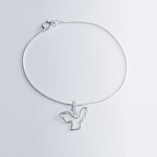 Náramek Angel of Hope celostříbrný 18 cm
