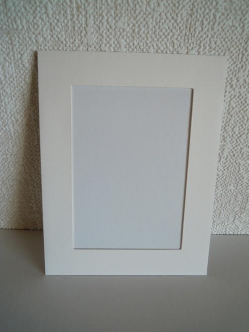 Pasparta - rámeček bílý - k vlastnímu dozdobení