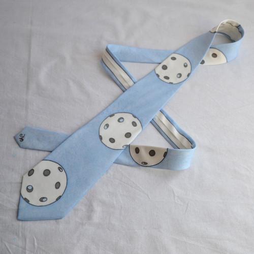 Florbalová kravata - světle modrá