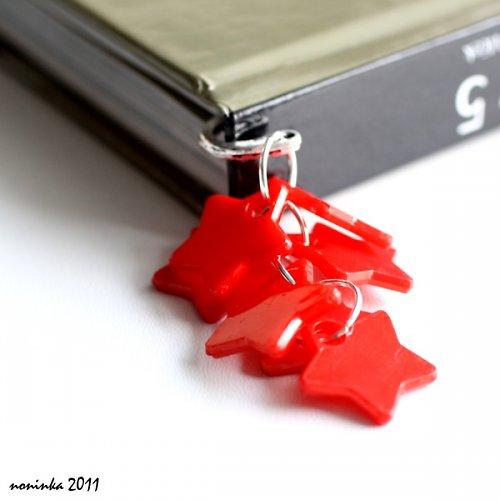červená hvězda  - záložka do knihy - VÝPRODEJ
