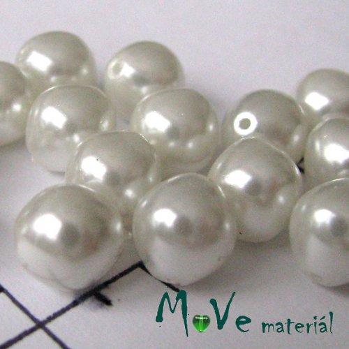 České voskové perle bílé 8mm, 20g