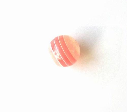 Korálky pruhované, 12 mm - 1 kus